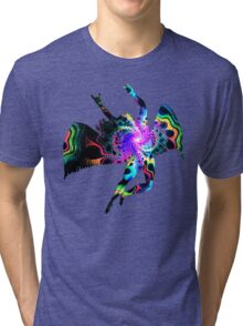 ICARUS THROWING THE HORNS - The 1960s white Tri-blend T-Shirt