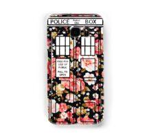 Floral TARDIS 2 Samsung Galaxy Case/Skin