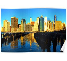 Bright and Sunny New York City Skyline - Impressions Of Manhattan Poster