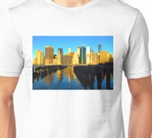 Bright and Sunny New York City Skyline - Impressions Of Manhattan Unisex T-Shirt