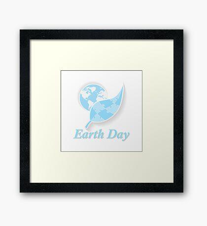 Earth Day.  Framed Print
