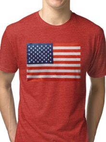 American Flag RED WHITE & BLUE Tri-blend T-Shirt