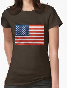 American RED WHITE & BLUE Womens Fitted T-Shirt