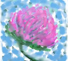 Red Clover Flower by Betty Mackey