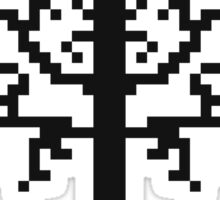 Pixel Tree of Gondor (Black) Sticker