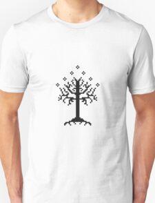 Pixel Tree of Gondor (Black) T-Shirt