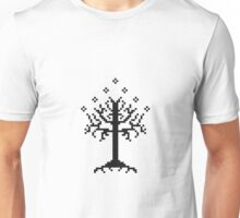 Pixel Tree of Gondor (Black) Unisex T-Shirt