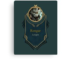 League of Legends - Rengar Banner Canvas Print
