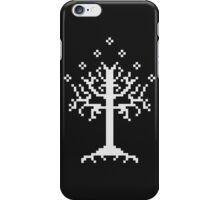 Pixel Tree of Gondor (White) iPhone Case/Skin