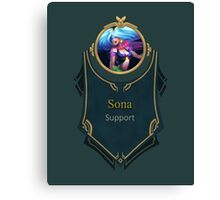 League of Legends - Sona Banner (Arcade) Canvas Print