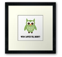 Who Owl Framed Print
