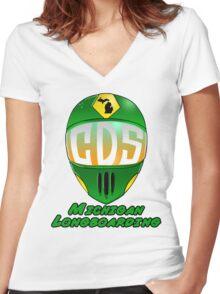 CDS Full Face Helmet Women's Fitted V-Neck T-Shirt