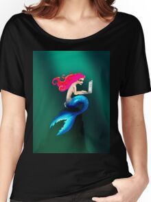 Graphic Tendentious Mermaid Women's Relaxed Fit T-Shirt