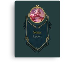 League of Legends - Sona Banner (Sweetheart) Canvas Print