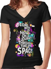 Come With Us Now Women's Fitted V-Neck T-Shirt
