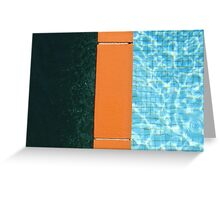 Contrast Pool Tile Greeting Card