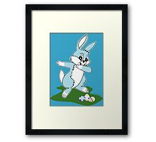 Dab Blue Easter Bunny Framed Print