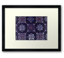 Purple Vintage Wallpaper Framed Print