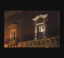 A Glimpse Through the Windows - Sicilian Baroque Palace & Venetian Chandelier One Piece - Short Sleeve