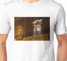 A Glimpse Through the Windows - Sicilian Baroque Palace & Venetian Chandelier Unisex T-Shirt