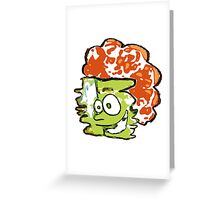 Warped Man Vector Greeting Card