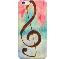 Treble Clef Watercolor iPhone Case/Skin