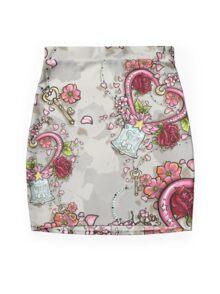 ChibiMoon Pattern Mini Skirt