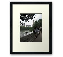 New York Central Park Boating on the Lake View  Framed Print