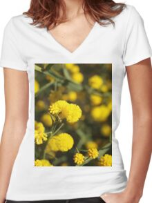 Winged Wattle Women's Fitted V-Neck T-Shirt