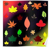 Fresco Leaves Poster