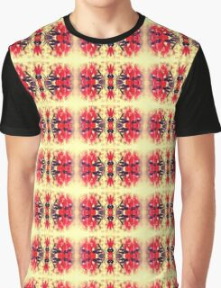 Sturt's Red Desert Pea on Gold Graphic T-Shirt