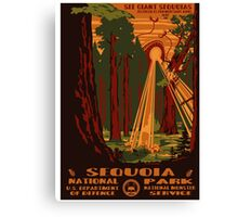 Sequoia alien invasion national park poster Canvas Print