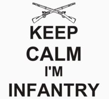Keep Calm I'm Infantry - Black One Piece - Long Sleeve