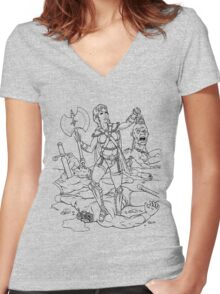 Warrior Woman Women's Fitted V-Neck T-Shirt