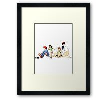Ghibli Girls Framed Print