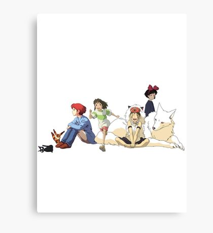 Ghibli Girls Canvas Print