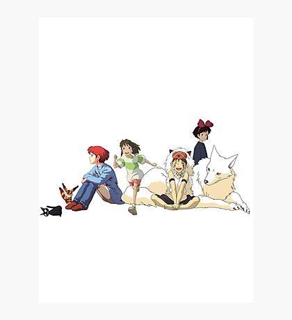 Ghibli Girls Photographic Print