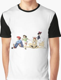 Ghibli Girls Graphic T-Shirt