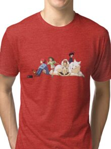 Ghibli Girls Tri-blend T-Shirt