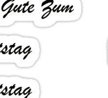 Alles Gute Zum Geburtstag - Schwartz Sticker