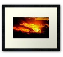 Sunset at Champion Lakes Framed Print