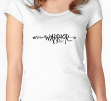 Warrior, not worrier Women's Fitted Scoop T-Shirt