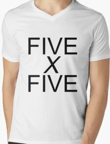 Five by Five Mens V-Neck T-Shirt