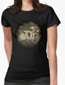 Pine Lake Mushrooms  Womens Fitted T-Shirt