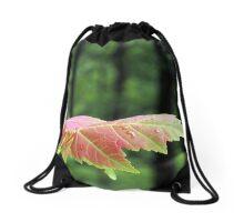 Spring Maple leaf Drawstring Bag