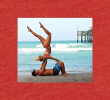 Couples Beach Yoga Tri-blend T-Shirt