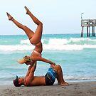 Couples Beach Yoga by ggpalms