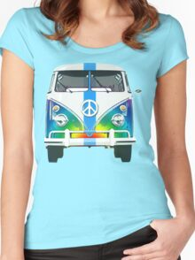 Retro Classic Volkswagen Hippy Van Women's Fitted Scoop T-Shirt