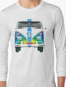 Retro Classic Volkswagen Hippy Van Long Sleeve T-Shirt