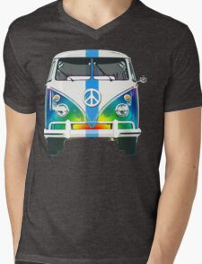Retro Classic Volkswagen Hippy Van Mens V-Neck T-Shirt